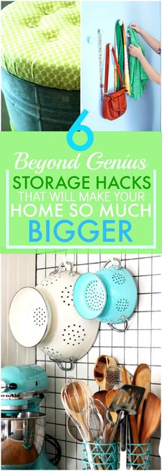 These 6 brilliant storage ideas have made my home look A TON bigger! I'm so glad I found this AWESOME post! I found a ton of great resources and now I don't feel so cramped in my small space. SO pinning for later!