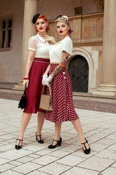 61 Ideas Vintage Retro Fashion Pin Up Dresses Pin Up Outfits, Pin Up Dresses, Cute Outfits, Fashion Outfits, Fashion Trends, Pin Up Fashion, Dress Fashion, 50s Dresses, Retro Style Fashion