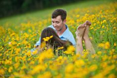 Outdoor Wildflower Field Engagement Picture