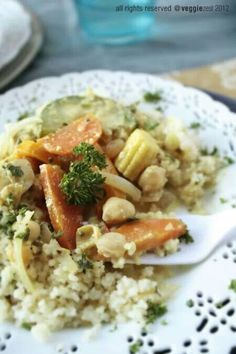 Curried Veggies with couscous