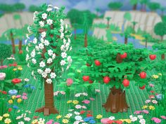 The Garden of Eden from The Brick Testament - I love seeing the bible in Lego form!