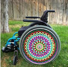 This item is unavailable Wheelchair Costumes, Wheelchair Accessories, Porch Garden, Small Rings, Wheel Cover, Original Image, Cool Gifts, Fractals, Special Gifts