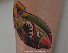 Monki Do Tattoo Studio: WW2 Bomb Tattoo by Andy Bowler