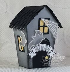 Stampin' Up! Home Sweet Home Thinlits Dies for my treat box along with the Halloween Scares and Sweet Home stamp sets for both projects. All of the products will be available on September 1st when the Holiday Catalog goes live. Debbie Henderson, Debbie's Designs.