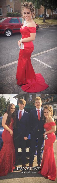 Long Prom Dresses Mermaid, Red Prom Dresses With Slit, 2019 Modest Prom Dresses With Sleeves, Off The Shoulder Prom Dresses Elastic Woven Satin Prom Girl Dresses, Prom Dresses For Teens, Best Prom Dresses, Girls Formal Dresses, Prom Dresses With Sleeves, Mermaid Prom Dresses, Cheap Prom Dresses, Prom Gowns, Homecoming Dresses