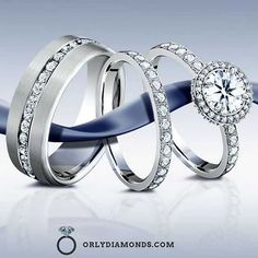 His and Hers Diamond Eternity Bands...Love Love Love at OrlyDiamonds.com