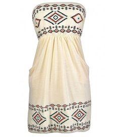 Cute Summer Dress, Cute Strapless Dress, Cute Embroidered Dress, Southwestern Dress, Southwestern Embroidered Dress