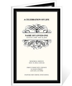 Cross in Clouds' Funeral Card Template for download. Check out ...