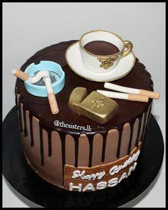 Coffee and cigarettes cake  #coffee #coffeecake #smoke #smoking #smokecake #ashtray #coffeeandcigarettes #coffeeandcigarettescake #beirut #birthdays… #funnycakes