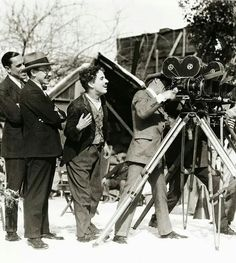 """Charlie Chaplin on the set of """"The Gold Rush"""""""