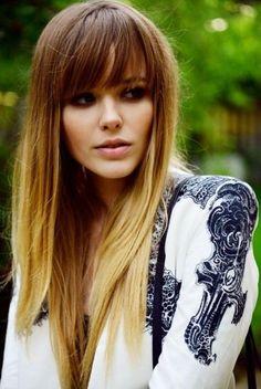 Long hair and bangs - Beauty and fashion