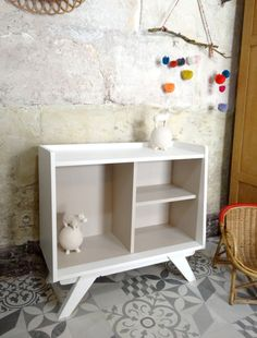 Meuble restaur ou d tourn on pinterest armoires commode vintage and buffet for Buffet formica restaure