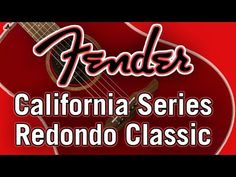 Fender's 2018 California Series Redondo Classic guitar is a bold, big-bodied acoustic with a rich and balanced tone. Fender Acoustic Guitar, Neon Signs, California, Classic, Youtube, Derby, Classical Music, Youtubers, Youtube Movies