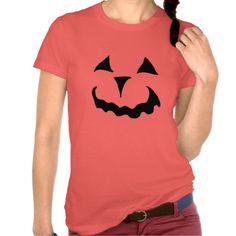 Fun Pumkin Silhoutte Raglan Jersey T-Shirt