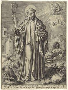 H. Benedictus van Nursia, Hieronymus Wierix, 1563 - 1619