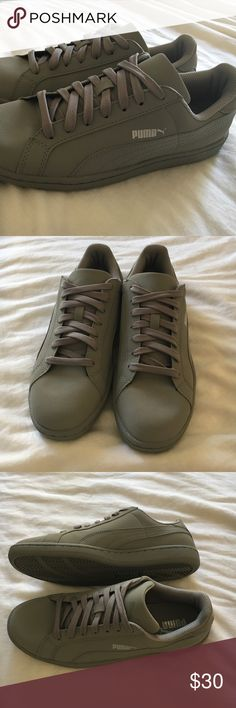 Puma Smash Buck Mono (7.5US mens 9.5US womens) Brand new, never been worn Puma Smash Buck Monos in a medium grey color. Bought these shoes for myself (Im a woman) but they were too narrow for me. They are a mens 7.5US but will fit a womens 9.5US. Puma Shoes Sneakers