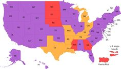 CONGRATULATIONS Alabama! The 37nth state with Marriage Equality! You are finally purple!