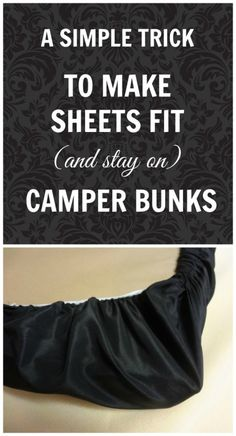 Camper bunk bed sheets