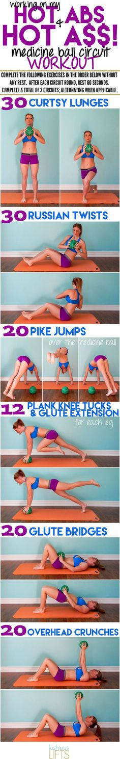 Awesome core and butt workout - all you need is a medicine ball!