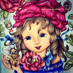 Markova, Adult Coloring, Colored Pencils, Enchanted, Fairy, Princess Zelda, Touch, Model, Fictional Characters