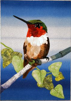 Hummingbird quilt by JoAnn Camp