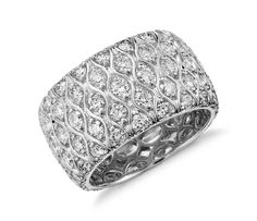 Natural Beauty! Radiance Diamond Eternity Ring in Platinum   #Diamonds #Jewelry