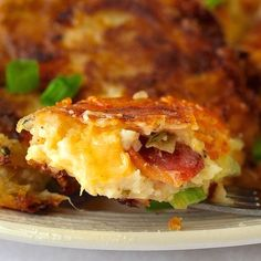 Bacon Cheddar and Onion Potato Cakes   http://www.rockrecipes.com/onion-cheddar-bacon-potato-cakes/