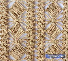 Watch This Video Beauteous Finished Make Crochet Look Like Knitting (the Waistcoat Stitch) Ideas. Amazing Make Crochet Look Like Knitting (the Waistcoat Stitch) Ideas. Picot Crochet, Crochet Diagram, Crochet Chart, Crochet Motif, Crochet Lace, Free Crochet, Crochet Stitches Patterns, Crochet Designs, Scarf Patterns