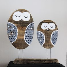Wooden figurines Owls | Купить Совушки интерьерные. - сова, совы, совушки, старое дерево, дерево, эко-дом