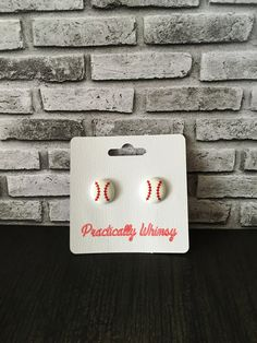 Check out Baseball stud earrings on PracticallyWhimsy
