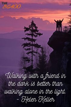 Those friends are few and far between, so keep these special close to you! Your Amazing Quotes, Positive Motivation, Walking Alone, The Darkest, Friends, Day, Movie Posters, Amigos, Film Poster