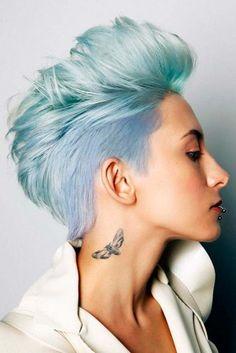 Coolste Faux Hawk inspiriert Frisuren für Frauen 2018