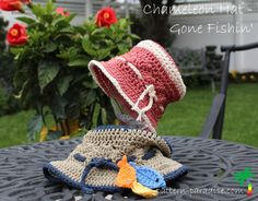 gone fishin hat 2 with logo IMG_1009.jpg  FREE PATTERN from newborn to adult