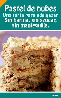 Cocina – Recetas y Consejos Healthy Cake, Healthy Desserts, Tortas Light, Sweet Recipes, Cake Recipes, Diabetic Recipes, Cooking Recipes, Pan Dulce, Gluten Free Cakes