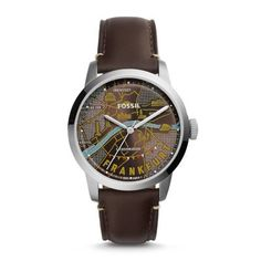 Special Edition Townsman Frankfurt Three-Hand Leather Watch – Dark Brown Inspired by retro postcards, our Special Edition Townsman pays homage to this vibrant German capital with an iconic dial. A rich leather strap and minted caseback make it a timely (and timeless) wrist essential, specially packaged in a custom Fossil tin