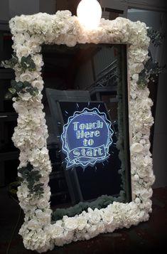 Ενοικίαση Mirror Photo booth   Εταιρικες εκδηλώσεις   Γάμος   Βάπτιση Magic Mirror Photo Booth, Mirror Booth, Red Led Lights, Possible Combinations, Burlap Wreath, Photo Book, Light Colors, Geek Stuff