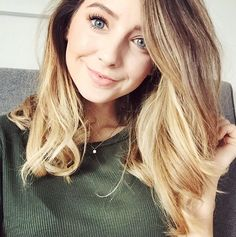 Still loving the long bob on Zoella Ombre Hair, Blonde Hair, Blonde Ombre, Hair Inspo, Hair Inspiration, Zoella Hair, Zoella Makeup, Zoella Beauty, Bae