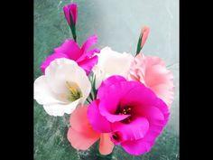 Paper flower - Eustoma / Lisianthus - Single & Double - YouTube