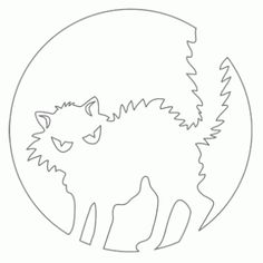 Вытынанки кошки и коты. Шаблоны. | Кругозор