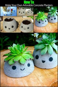 How to Make Your Own Concrete Planters http://theownerbuildernetwork.co/4wyj Planters are wonderful addition to your outdoor setting. But they can be expensive, especially if you need a few for your garden. You might also have some trouble finding the particular style you want or size you need. A great way around these problems is to make your own!