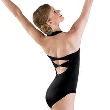 Women's Twist Back Halter Ballet Leotard; Balera--I have this in navy! Runs slightly big...