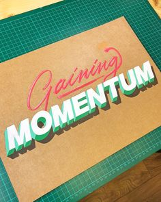 When making the decision to share one artwork in progress video every week, I was apprehensive. The thought of such a commitment was… 3d Letters, Painted Letters, Hand Painted Signs, Monogram Letters, Calligraphy Drawing, Calligraphy Letters, Typography Letters, Types Of Lettering, Lettering Styles