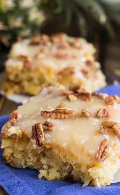 Pineapple Sheet Cake Recipe -- Part of The Very Best Sheet Cake
