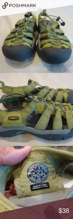 KEEN Womens Green Waterproof Closed Toe Sandal KEEN, Women's Size 7.5, Green, Waterproof, Closed Toe Hiking/Water/Sport Sandals, NWOB  Smoke and pet free home  (S7-EB,PM) Keen Shoes