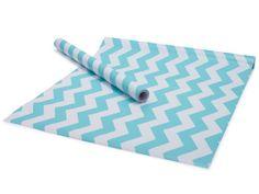 Aqua Pop Chevron Contact Paper/Shelf Liner  18 x 5' by TimeSavors, $5.49