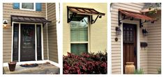 We offer the Concave awning in copper or metal with a variety of scroll designs to suit your specific tastes. We build and ship your awning to your door. Metal Awning, Copper House, House Trim, Scroll Design, Concave, Modern Design, Garage Doors, Barn, Exterior