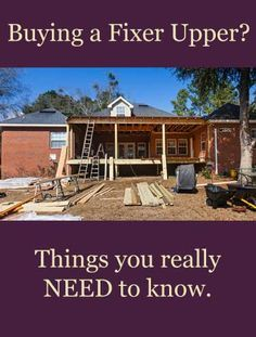 Buy a cheap house, fix it up yourself and save money, right? Look before you leap and know the options of buying a fixer upper or buying a foreclosure. Greg Hancock BHHS.