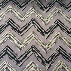 Grey & Black Zig Zags Fabric By The Yard Curtain by FabricMart