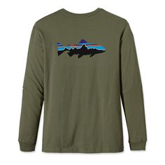 Patagonia Men's Long-Sleeved Fitz Roy Trout T-Shirt