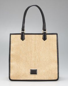MARC by Marc Jacobs - Solid Straw Sami Tote